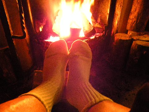 Warming up cold & wet feet
