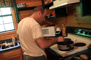 Hubby making breakfast | by The Noshery