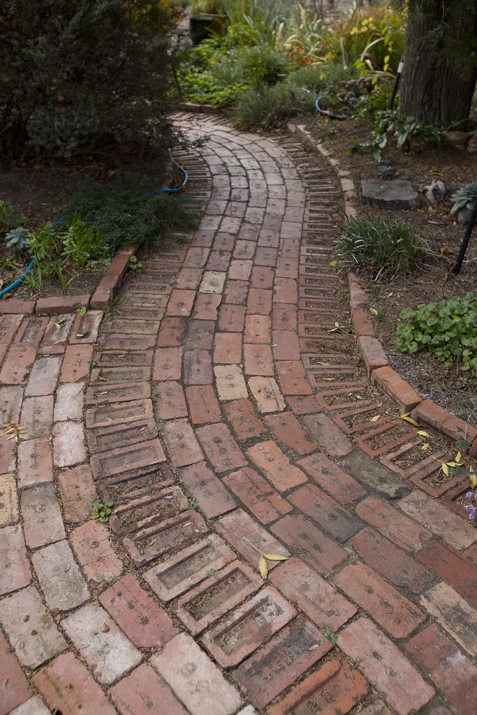 Recycled Brick Path Canberra Red Recycled Brick Path