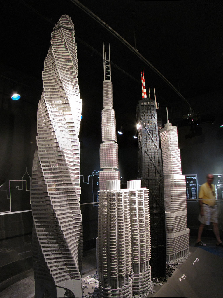 Lego Skyscrapers Chicago Spire Planned Chicago Usa