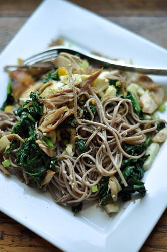 Soba Noodles with Chicken, Spinach, and Egg | Rachel Hathaway | Flickr