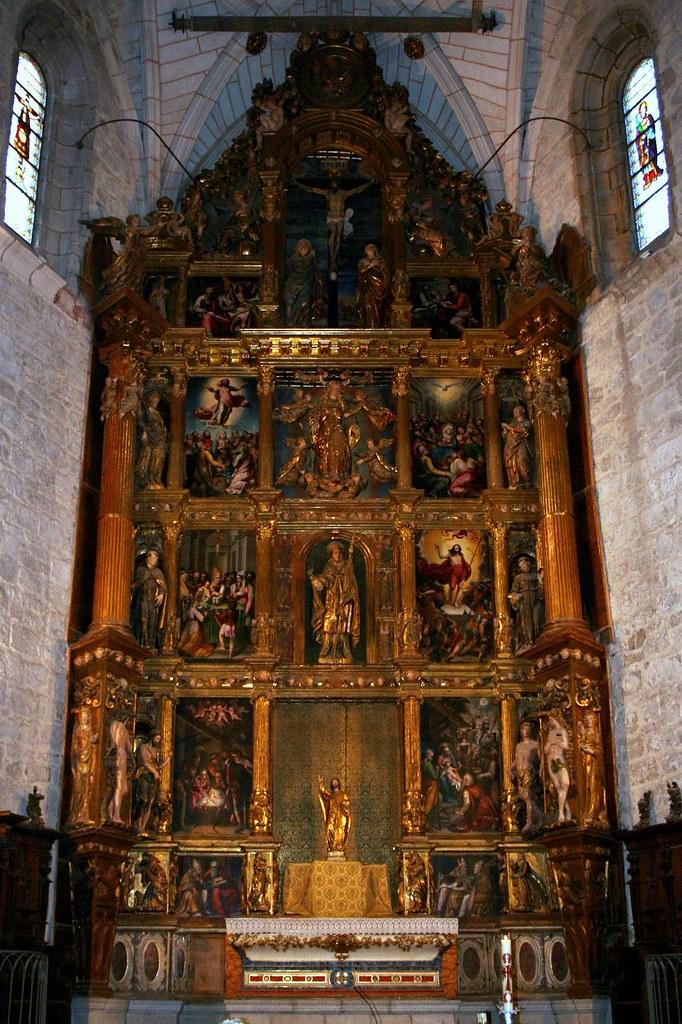 retablo mayor de la iglesia de san eutropio el espinar