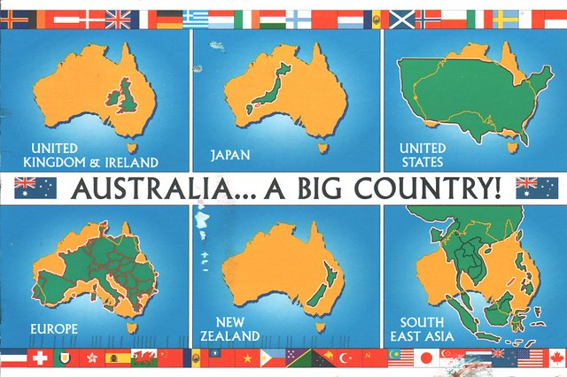 australia map a big country by quiet_place
