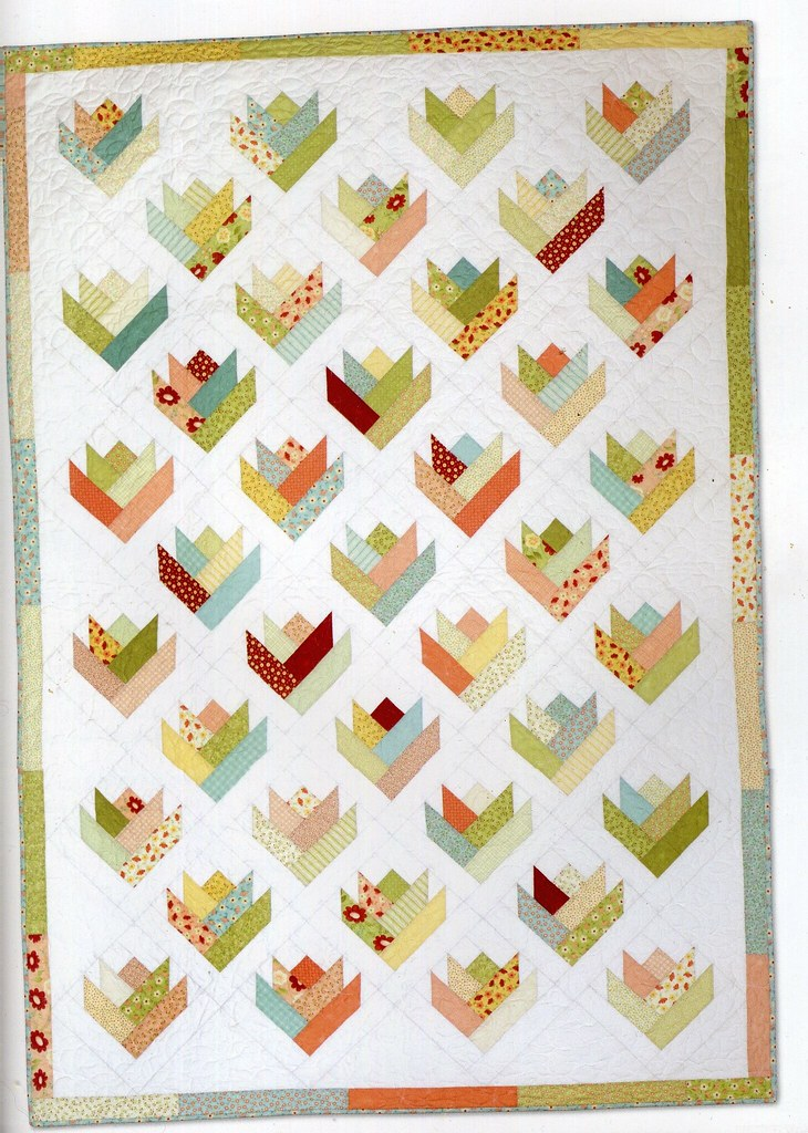 Flower Quilt Pattern From Jelly Roll Quilts By Pam And