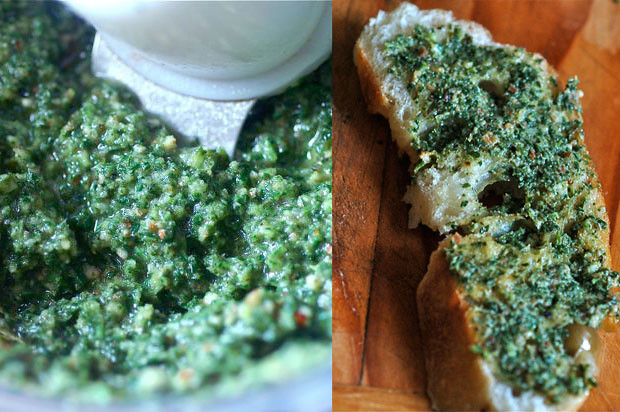 finished carrot top pesto | for the recipe sbandgb.net | Flickr