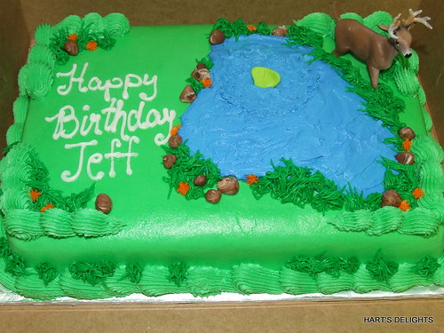 Hunting and Fishing Birthday cake | Debbie | Flickr