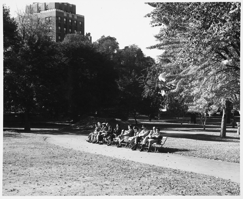 Boston Public Garden People Seated In Sun On Park Benches Flickr