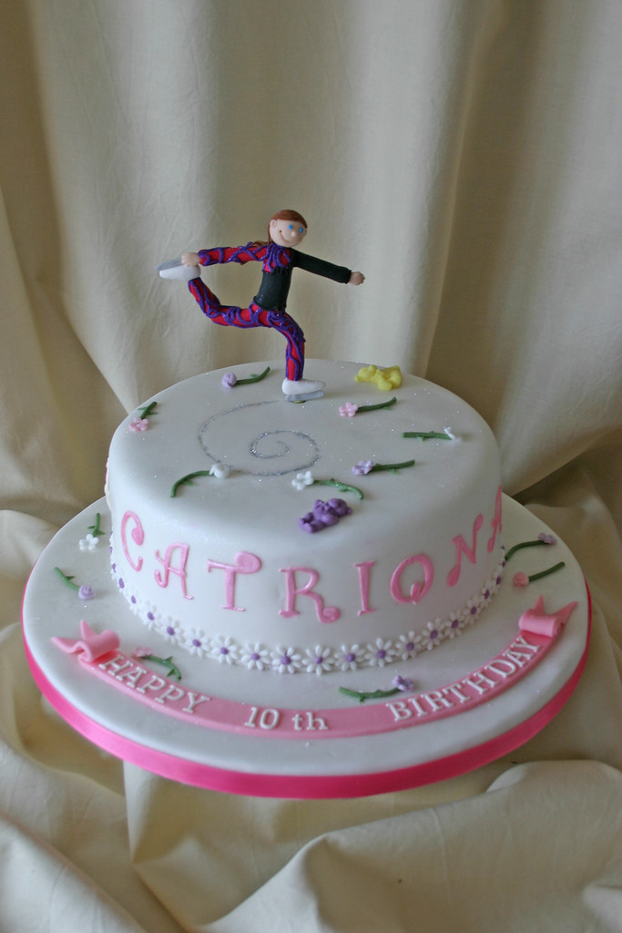Ice Skating Birthday Cake
