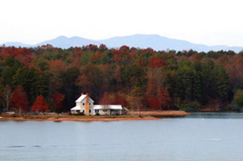 old farm house on lake keowee