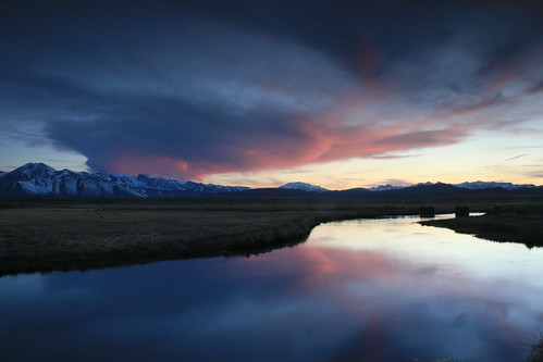 sunset over Owens River | by bertdennisonphotography