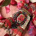 Victoriana- vintage lace cuff with hand painted cameo
