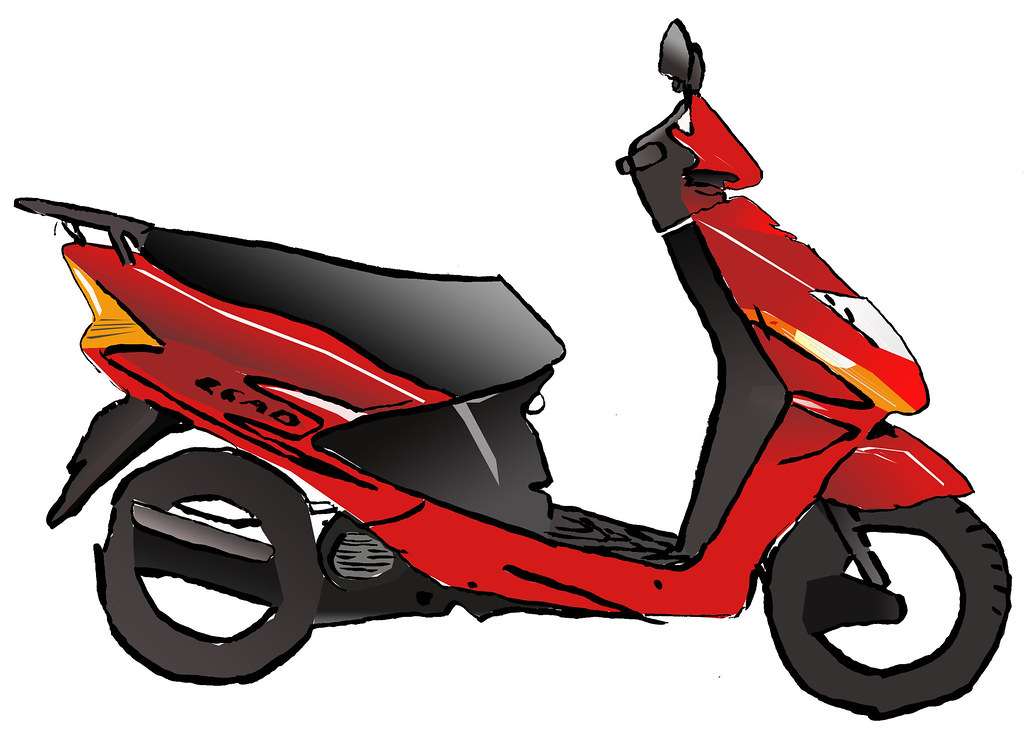 honda lead 100 scooter drawing this is one of my methods. Black Bedroom Furniture Sets. Home Design Ideas