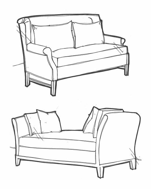 ... Furniture Sketches   By :: Lesley Denford