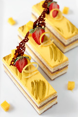 Chocolate Coconut & Mango Entremet | by tartelette