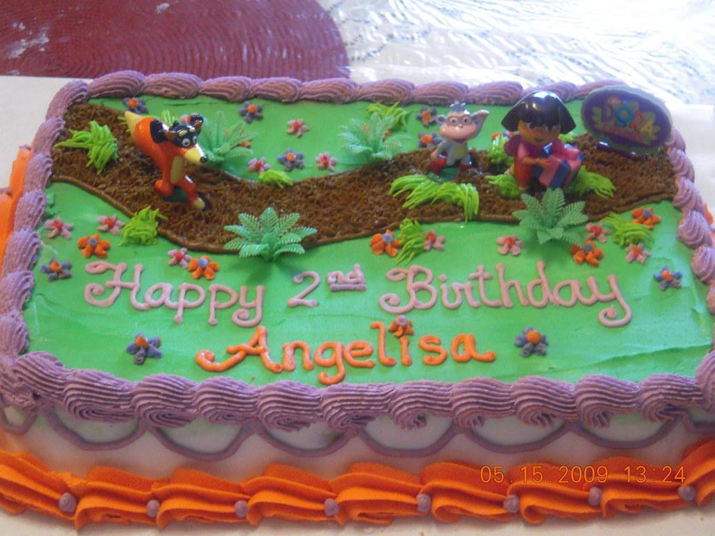 Dora Cake Recipe In English: My Daughter's 2nd Birthday Cake. I Bought