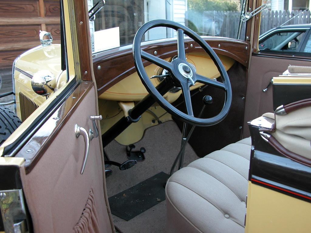 1930 Model A Ford 68B Convertible Cabriolet Interior | Flickr