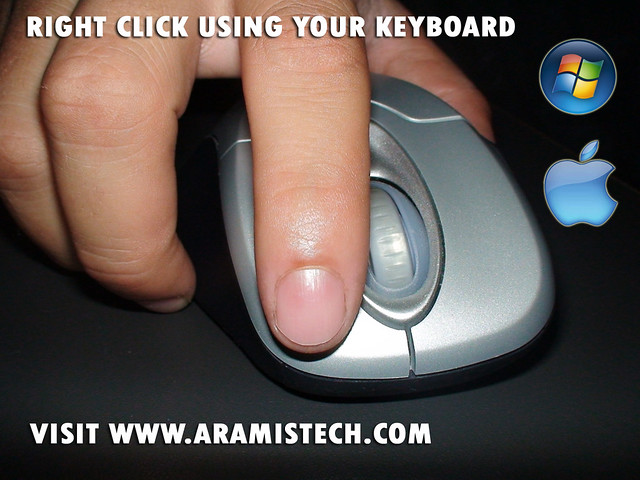 how to right click with keyboard mac