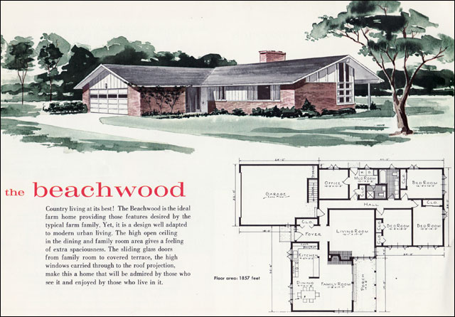 1960 Beachwood House Plan See Mid Century Home Style For
