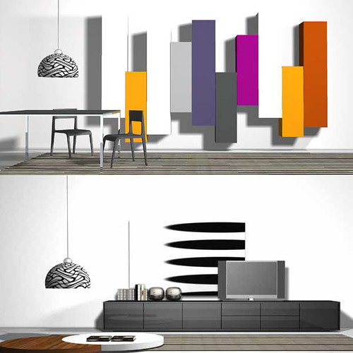 Modern Colorful Wall Unit Design Modern Colorful Wall