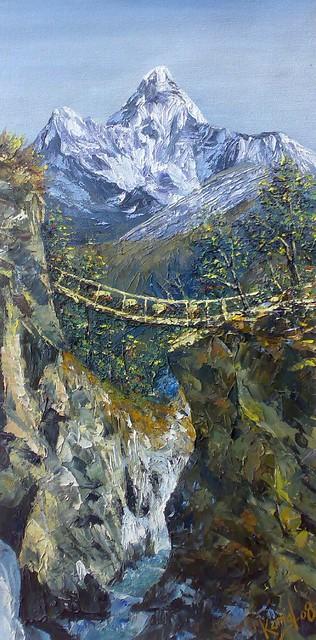 Art by Kamal Gurung Himalaya oil painting | © Art by Kamal ...