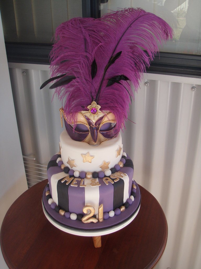 Masquerade Cake Toppers