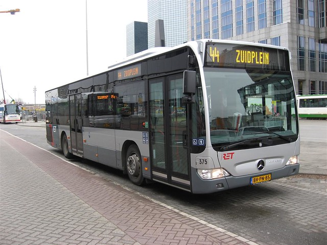 RET bus 375 Rotterdam CS   RET Rotterdam. Bus on route 44 ...