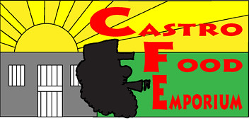 castro food emporium logo of the supermarket where stu