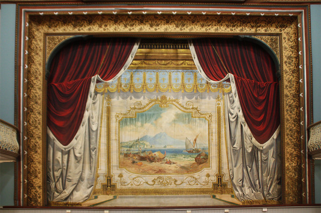 Painted Theatre Curtain Boulder Town Hall The Town Hall