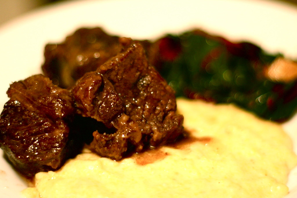 Braised Beef Short Ribs with Polenta and Swiss Chard | Flickr