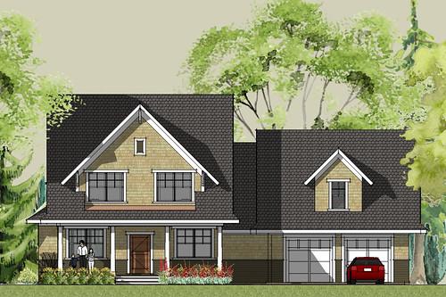 Stillwater craftsman house plan front elevation | House ...