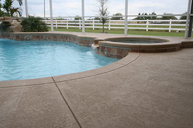 Seal Krete Floor Tex Application On A Pool Deck Here Is A Flickr