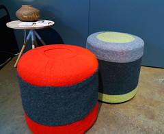 Salvation Recycled Sweater Stools by Sara Ebert | by Inhabitat