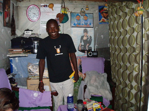 Kennedy Odede in his home in Kibera, Kenya | by WNPR - Connecticut Public Radio