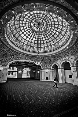 Chicago Cultural Center's Tiffany glass dome | by Phil Marion