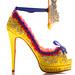Christian Louboutin Lesage Marie Antoinette Heel - Yellow