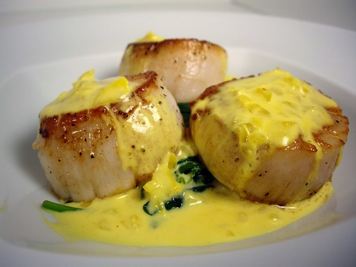 Scallops in Saffron Cream Sauce | by swampkitty