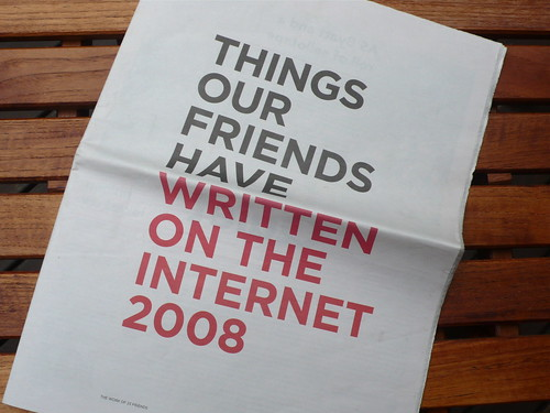 Things Our Friends Have Written On The Internet 2008 | by cityofsound