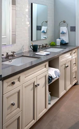 Quartz Bathroom Vanity Countertop In Pebble Flickr Photo Sharing
