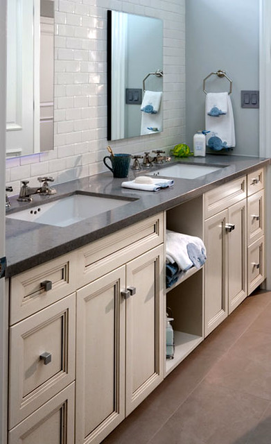Quartz Bathroom Vanity Countertop In Pebble Bathroom