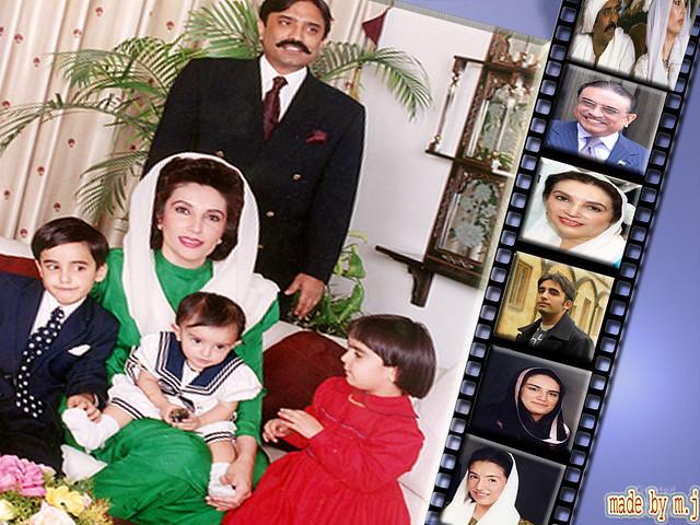 Benazir Bhutto Family Wallpaper Benazir Bhutto Family Wall Flickr - Bhutto family