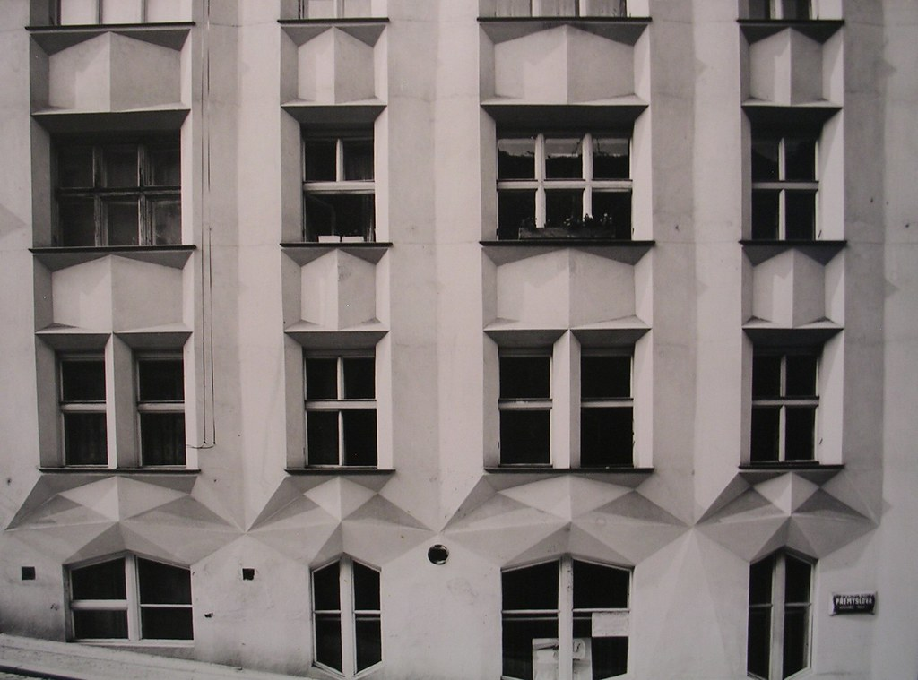 Black And White Photograph Of Cubist Architecture Museum