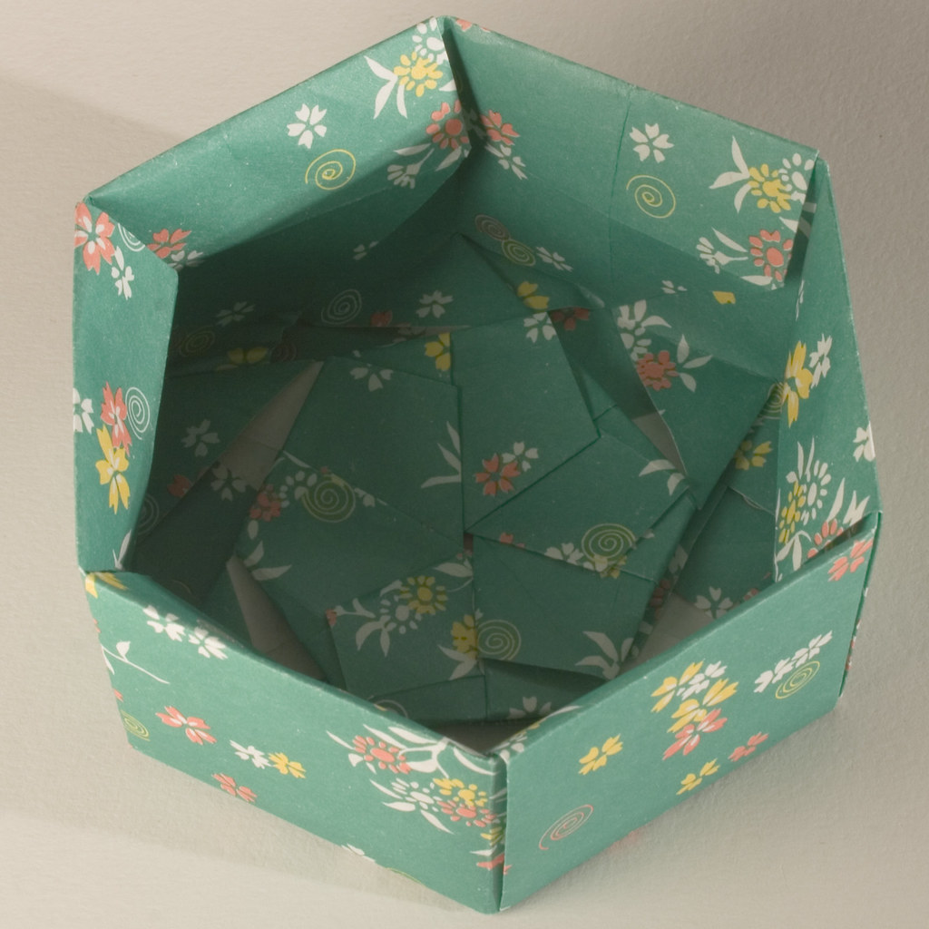 Small Decorative Gift Boxes With Lids: Base Of Decorative Hexagonal Origami Gift Box (with Lid Re