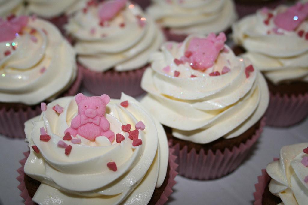 baby shower cupcakes girl natalie flickr