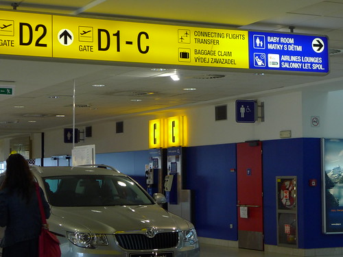 Prague Airport Map Prague Ruzyn Airport Terminal