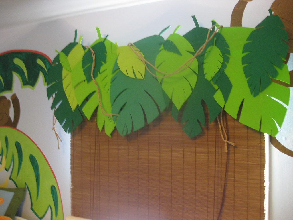 Classroom Decoration Jungle Theme : Jungle room valance made from a rod craft foam