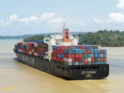 Hanjin San Francisco in Panama canal | by wirralwater (NO MORE UPLOADS)