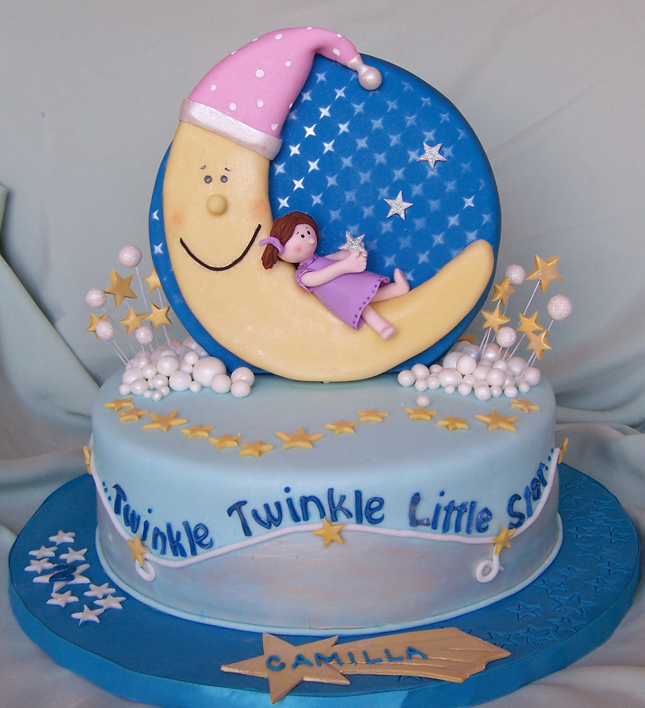 Twinkle, Twinkle, Little Star Cake The cake topper is ...