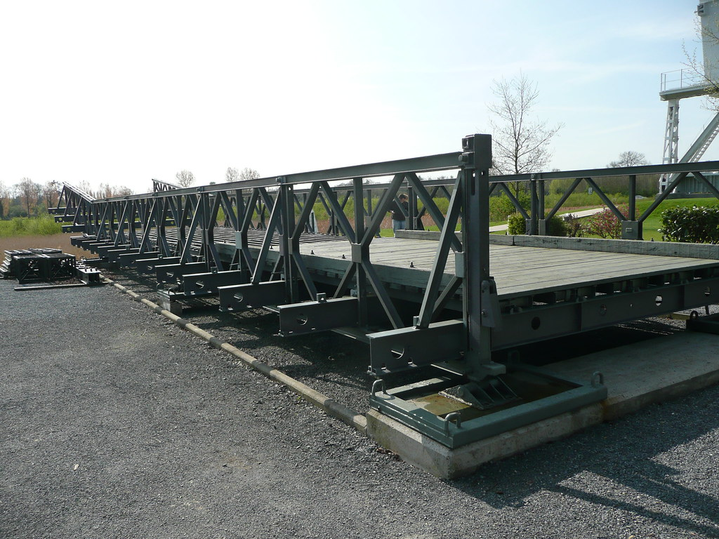 Portable Bridge Construction : Wwii bailey bridge the is a portable pre