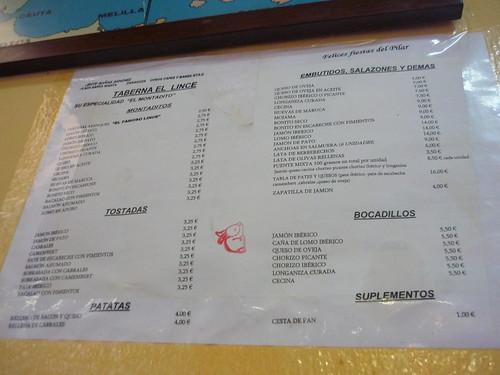 Spanish Menu Template Spanish Tapas Menu   by