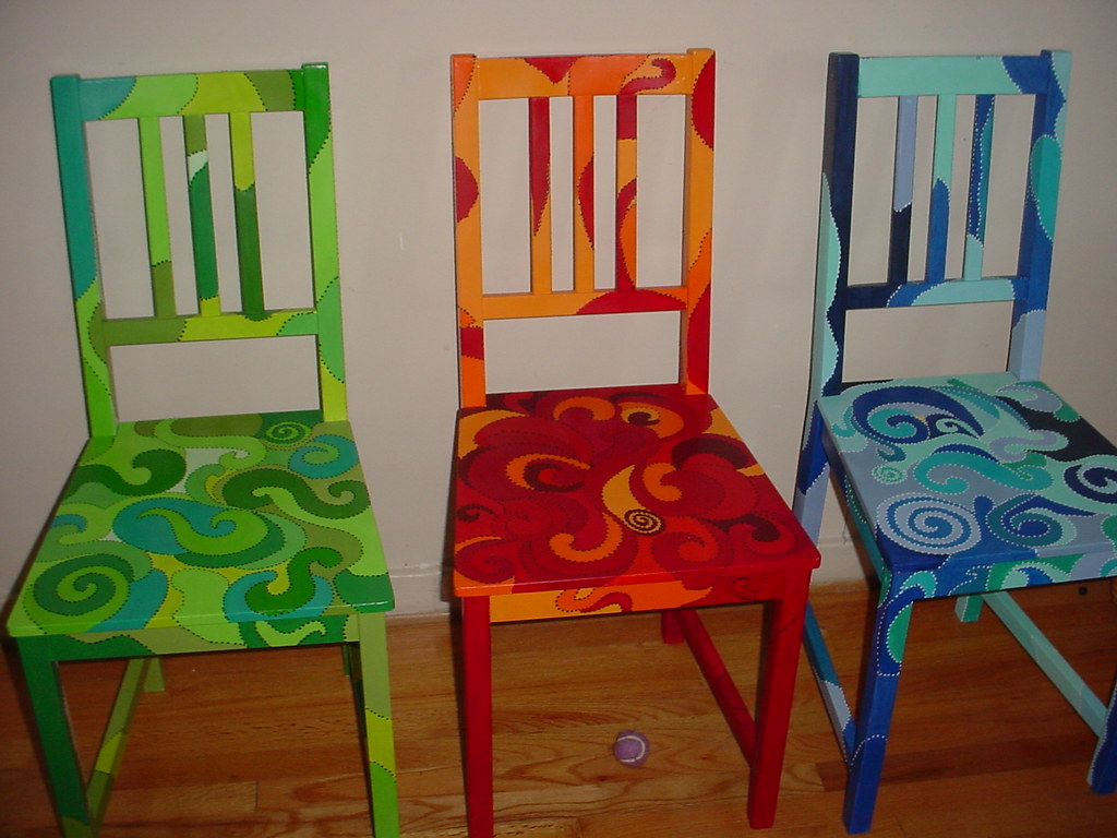 Spring Fall And Winter Hand Painted Funky Chairs Flickr